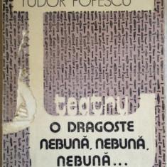 Tudor Popescu - O dragoste nebuna, nebuna, nebuna... - Carte Teatru, An: 1990