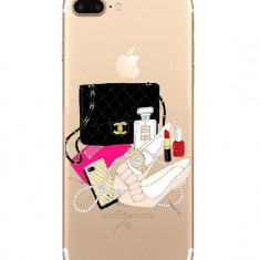 Husa telefon Iphone7 protectie Ultrasubtire Clear Chic Shoes, Transparent