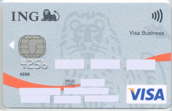 card bancar Visa ING foto mare