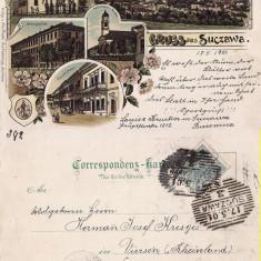Suceava (Litho) - Litografie Bucovina - Carte Postala Bucovina pana la 1904, Circulata, Printata