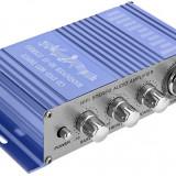Amplificator auto 2 canale, USB / MP3 / FM / SD / DVD