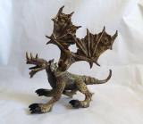 Dragon mare, articulat, plastic, 19cm lungime