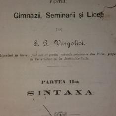 S. G. VARGOLICI - GRAMATICA LIMBEI LATINE – SINTAXA