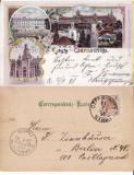Cernauti , Bucovina - litografie 1898, Circulata, Printata
