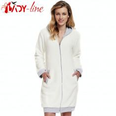 Halat Dama Din Blanita Cu Gluga Si Buzunare, Brand DN Nightwear, Cod 1374, Culoare: Din imagine, Marime: M