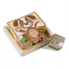 Primele Mele Cuburi Puzzle Melissa & Doug Cu Animale