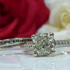 Inel logodna aur 14k si diamante 1.35ct certificat EGL - Inel de logodna