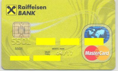 card bancar Mastercard Raifeissen foto