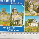 Bnk cp Jud Valcea - Monumente istorice - circulata - marca fixa - Carte Postala Oltenia dupa 1918, Printata