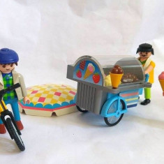 Lot figurine Playmobil (inghetata, tricicleta cu inghetata, vanzator) - Set de constructie