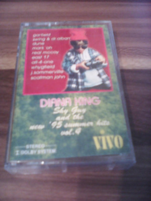 "CASETA AUDIO DIANA KING-SHY GUY AND THE NEW 95""SUMMER HITS VOL 4 ORIGINALA VIVO foto"