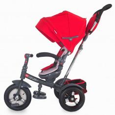 Tricicleta multifunctionala Giro Plus Rosu Coccolle - Tricicleta copii