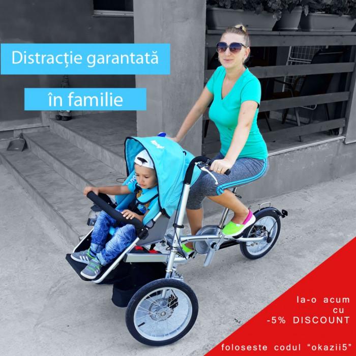 Kangobike bicicleta-carucior 2in1, absolut superba, ideala pentru parinti activi