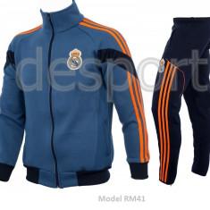 Trening toamna - iarna REAL MADRID - Bluza si pantaloni conici - Modele noi 1095 - Trening barbati, Marime: XXL, Culoare: Din imagine