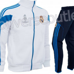 Trening toamna - iarna REAL MADRID - Bluza si pantaloni conici - Modele noi 1096 - Trening barbati, Marime: S, XXL, Culoare: Din imagine