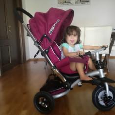 Cărucior Tricicletă Chipolino Nexus Burgundy (copii 1,5 - 6 ani)