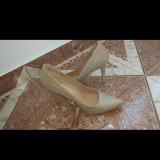 Pantofi stiletto - Pantof dama, Culoare: Auriu, Marime: 39, Cu toc