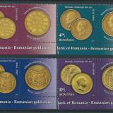 2013 Romania, LP 1989 b- Monede romanesti de auri, cu vinieta-MNH - Timbre Romania, Nestampilat