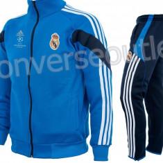 Trening toamna - iarna REAL MADRID - Bluza si pantaloni conici - Modele noi 1094 - Trening barbati, Marime: S, Culoare: Din imagine