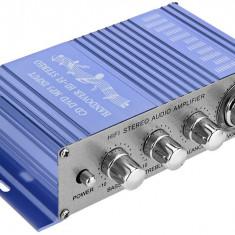 Amplificator auto, moto 2 canale, USB / MP3 / FM / SD / DVD