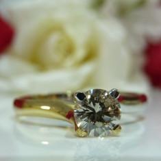 Inel logodna aur 14k cu diamant 0.38ct - Inel de logodna