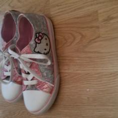 Tenişi fete HELLO KTTY originali - Tenisi copii Hello Kitty, Marime: 36, Culoare: Multicolor
