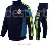 Trening toamna - iarna REAL MADRID - Bluza si pantaloni conici - Modele noi 1097, L, M, S, XL, Din imagine
