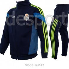 Trening toamna - iarna REAL MADRID - Bluza si pantaloni conici - Modele noi 1097 - Trening barbati, Marime: S, M, L, Culoare: Din imagine