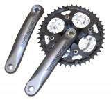 Angrenaj Pedalier Shimano Deore MTB, 44X32X22T, Brat 170MM, Pentru 9 Viteze Pe SPB Cod:KFCM480C422XS
