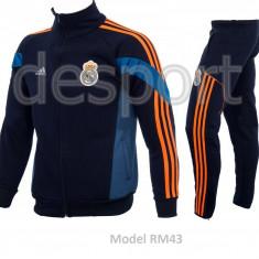 Trening toamna - iarna REAL MADRID - Bluza si pantaloni conici - Modele noi 1100 - Trening barbati, Marime: S, M, Culoare: Din imagine