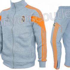 Trening toamna - iarna REAL MADRID - Bluza si pantaloni conici - Modele noi 1098 - Trening barbati, Marime: S, L, Culoare: Din imagine