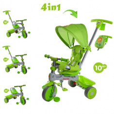 Tricicleta Baby Trike 4 in 1 Lion Green - Tricicleta copii