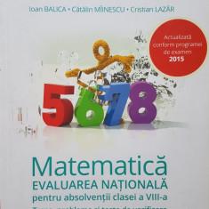 Clubul Matematicienilor - MATEMATICA EVALUAREA NATIONALA Perianu, Stanica - Culegere Matematica