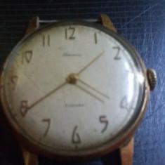 Ceas vechi de mana marcat Au 12,5,perfect functional,BECHA,Ceas original rusesc