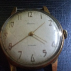 Ceas vechi de mana marcat Au 12, 5, perfect functional, BECHA, Ceas original rusesc - Ceas de mana