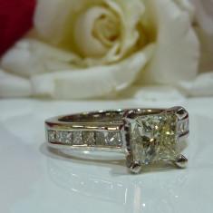 Inel logodna aur 14k cu diamante 1.86ct - Inel de logodna
