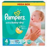 Scutece PAMPERS Active Baby 4 Maxi Mega Pack 132 buc - Scutece unica folosinta copii