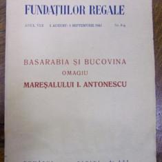 BASARABIA ȘI BUCOVINA . OMAGIU MARESALULUI ANTONESCU (1941)