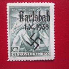 GERMANIA KARLSBAS 1938=SERIE=MNH, Nestampilat