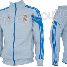 Trening toamna - iarna REAL MADRID - Bluza si pantaloni conici - Modele noi 1099 - Trening barbati, Marime: S, Culoare: Din imagine