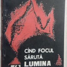 DESPINA VALJAN VASILESCU: CAND FOCUL SARUTA LUMINA(1992/coperta VALERIU PANTAZI) - Carte poezie