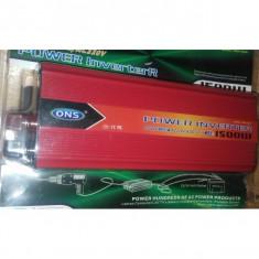 Invertor cu USB 1500 w ONS AC 220v-DC 12V - Invertor Auto