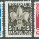 1936 Romania, LP 115- Jamboreea Nationala Brasov-MNH - Timbre Romania, Nestampilat