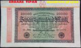 Bancnota 20000 Marci - GERMANIA/ BERLIN, anul 1923 *cod 181 eroare tipar !!!