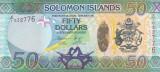Bancnota Insulele Solomon 50 Dolari (2013) - P35r UNC ( repacement - serie X/1 )
