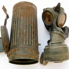 Masca de gaze militara WWII 1943 Wehrmacht Germania nazista svastica