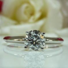 Inel aur 14k cu diamant 0.45ct certificat IGI - Inel de logodna