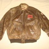 Geaca pilot/aviator/aviatie, piele naturala CHARLES CHEVIGNON vintage/colectie