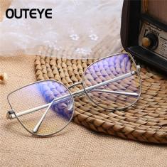 Ochelari lentila transparenta protectie model cat eye silver + toc inclus