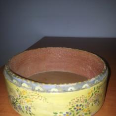 Ciur de faina, sita veche de faina pictata manual